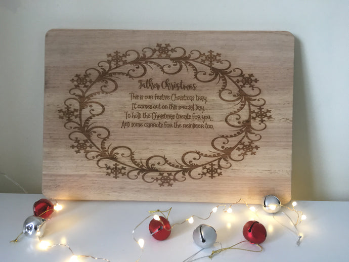 Father Christmas chopping board / tray / Platter elegant - Fred And Bo
