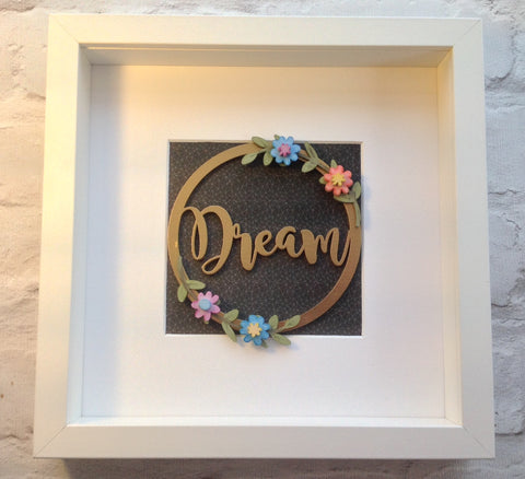 Floral Word wreath Box Frame - Fred And Bo