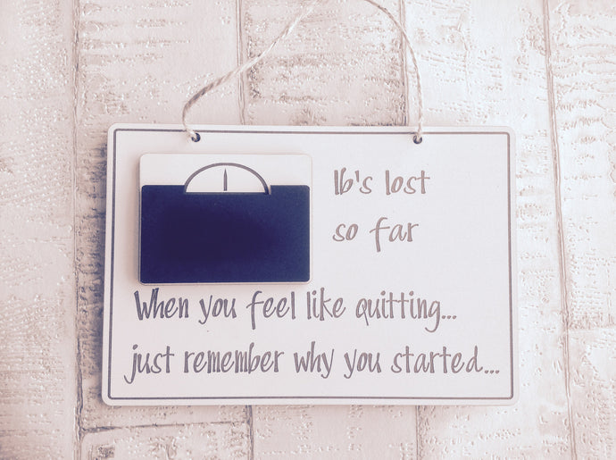 Weightloss tracker plaque - Fred And Bo