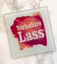 Yorkshire Lass Glass Coaster - Fred And Bo