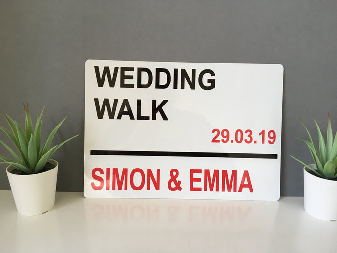 Wedding Personalised London style street sign