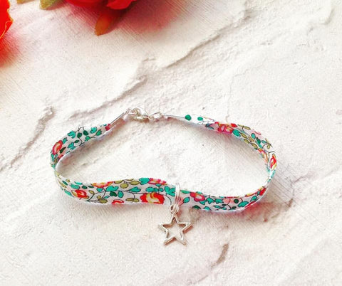Liberty of London star charm bracelet - Eloise B Liberty fabric bracelet - Fred And Bo