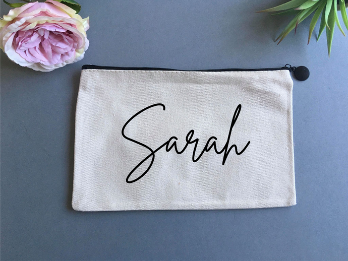 Personalised Linen pouch- with Name - Fred And Bo