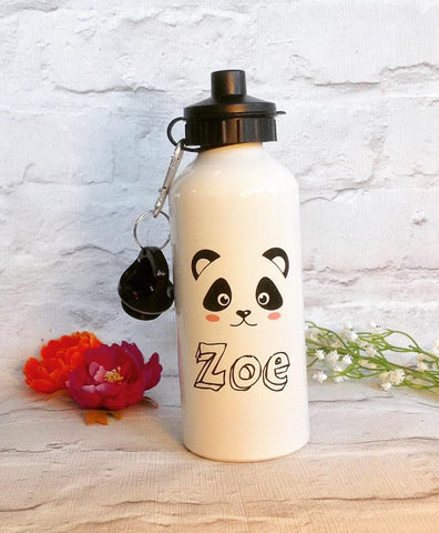Panda face Personalised Aluminium water bottle - Fred And Bo