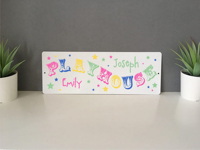 Personalised Playhouse plaque sign