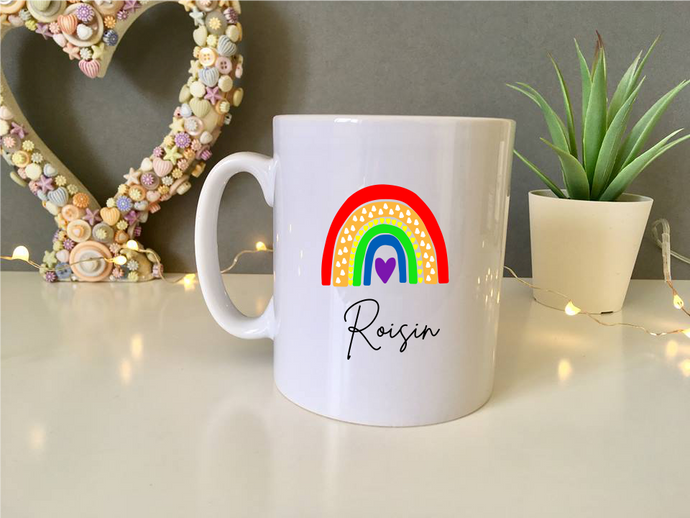 Bright Rainbow- ceramic mug- Travel mug - Water Bottle - Fred And Bo