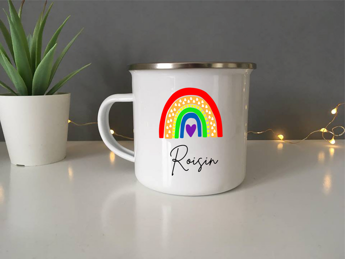 Enamel Mug- Rainbow - Fred And Bo