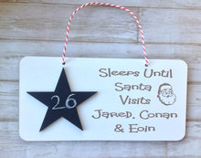 🎄 Sleeps until Santa visits..... christmas festive plaque - Fred And Bo