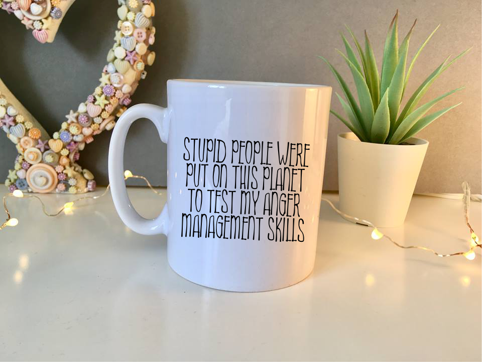 Stupid people mug - Fred And Bo