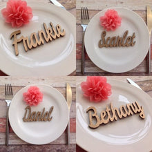 Wedding name place settings- laser cut names set of 10 - Fred And Bo