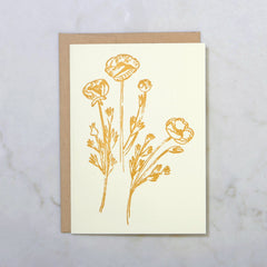 Pretty Gold Flowers Image