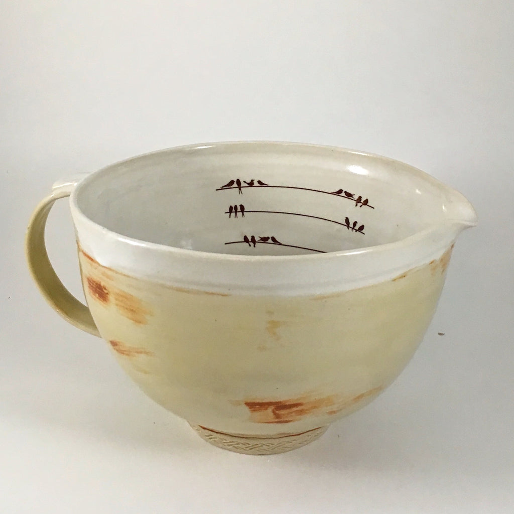8 Cup Bird Measuring Bowl Made to Order