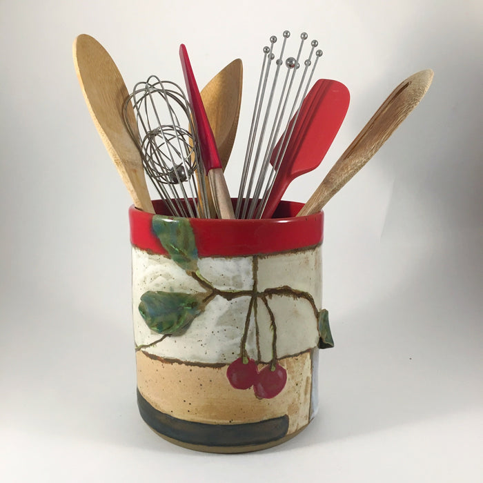 Cherry Utensil Holder
