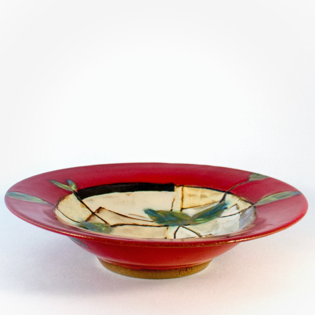 Cherry Rimmed Soup Bowl