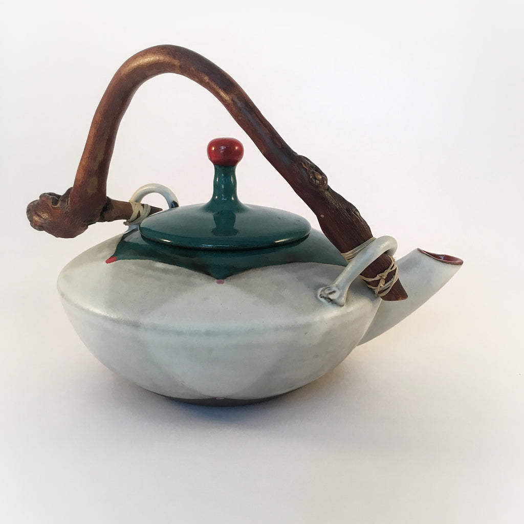 Blackware Teapot II with Manzanita Handle