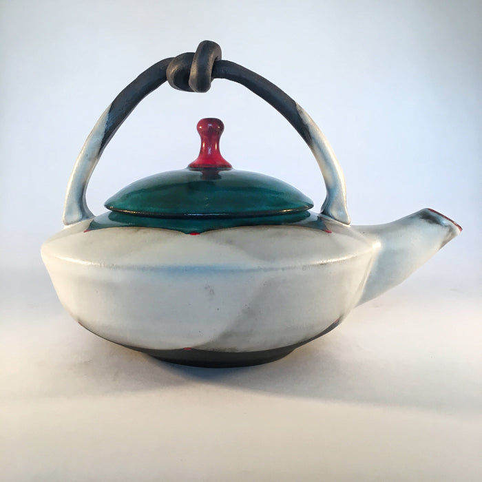 Blackware Teapot I with Knot Handle