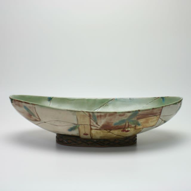 Cherry Oval Footed Bowl