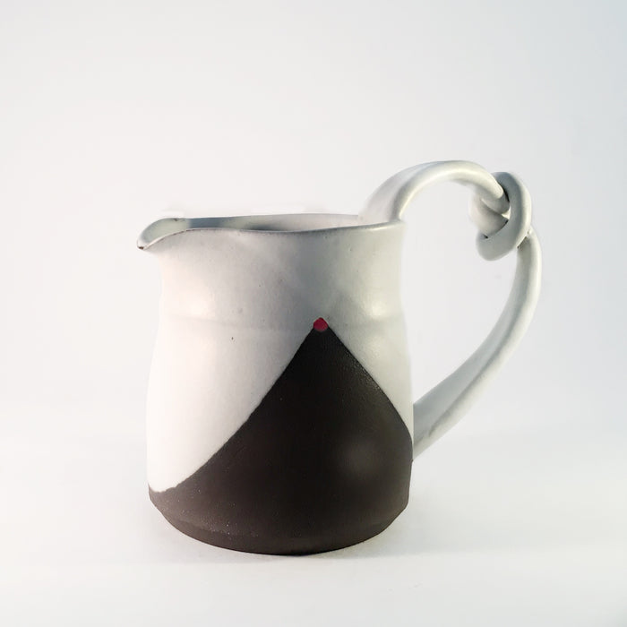 Blackware Knot Handled Pitcher