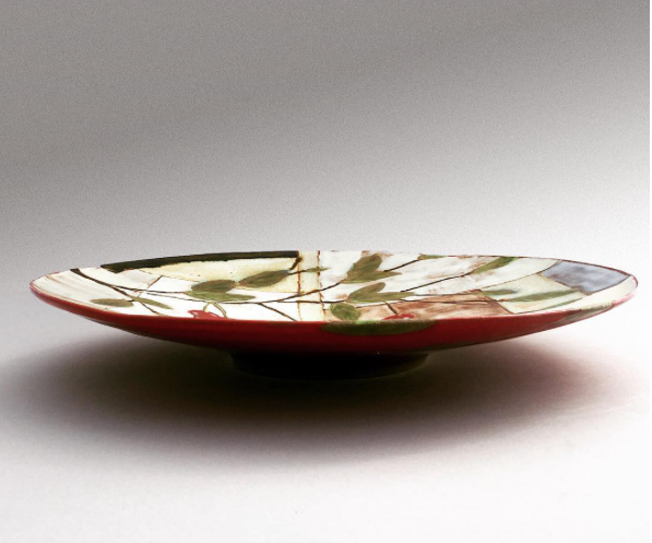 Cherry Wide Shallow Bowl