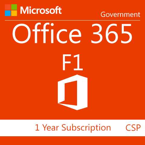 Microsoft Office 365 F1 - 1 Year Subscription - GOV