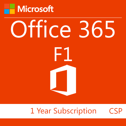 Microsoft Office 365 F1 - 1 Year Subscription