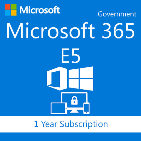 Microsoft 365 Plan E5 without Audio Conferencing - Government - 1 Year Subscription
