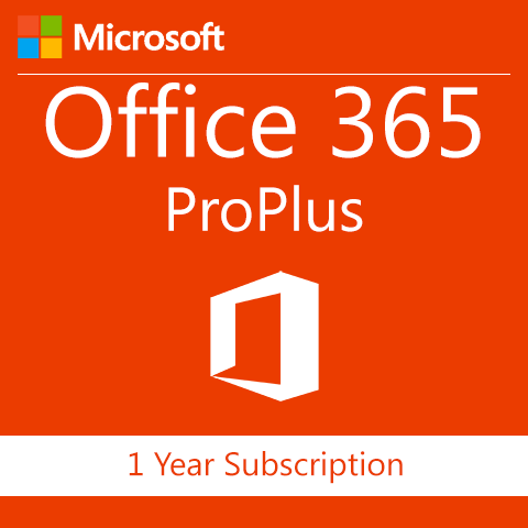 Microsoft Office 365 ProPlus - 1 Year Subscription - Digital Maze