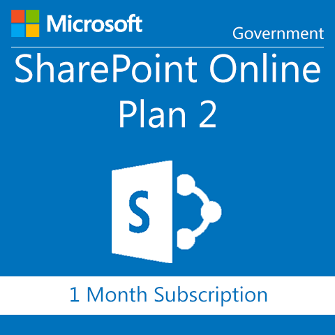 Microsoft SharePoint Online Plan 2 - Government