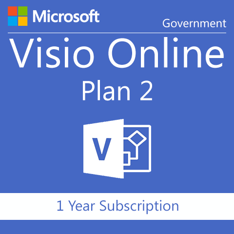 Microsoft Visio Online Plan 1 - Government - 1 Year Subscription - Digital Maze