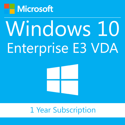 Microsoft Windows 10 Enterprise E3 VDA - 1 Year Subscription