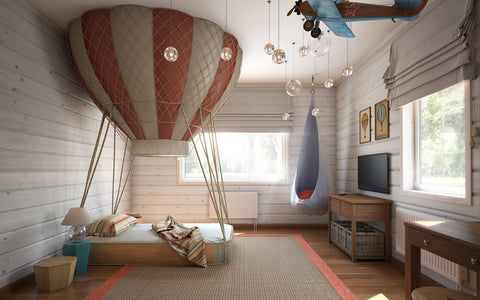 unique kidsu0027 beds hot air balloon bed for boys