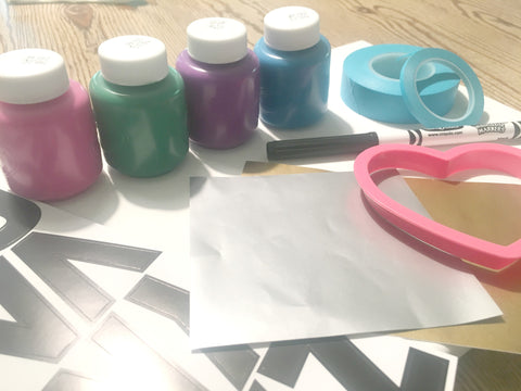 Craft Supplies for canvas art project