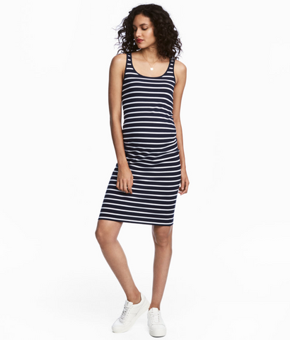 Liz Lange striped maternity dress