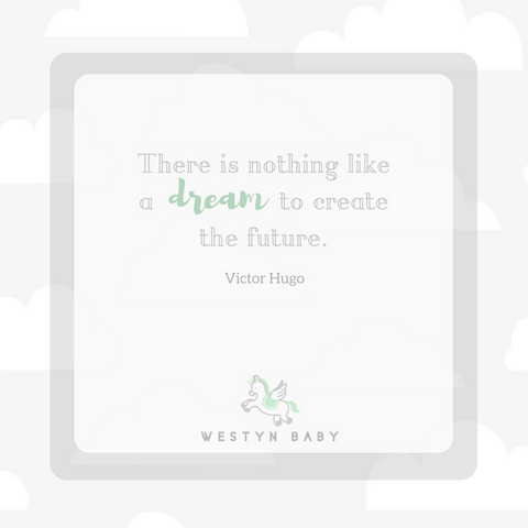 """There is nothing like a dream to create the future"" Victor Hugo quote"