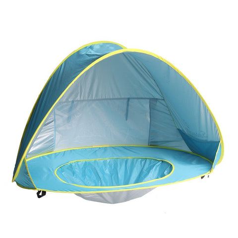 Toddler beach essentials tent and pool