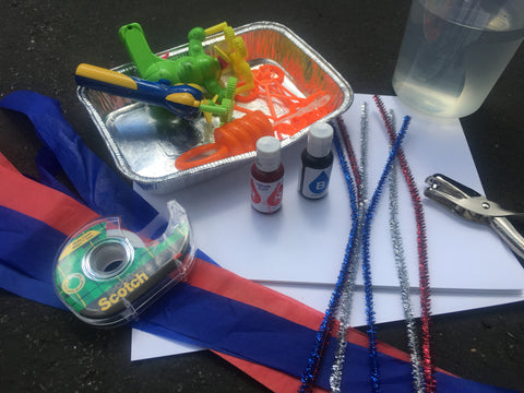 Craft Supplies for 4th of July windsock activity