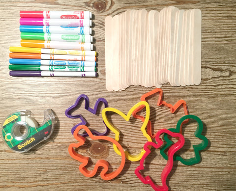 Craft Supplies For Popsicle Stick Puzzle Project