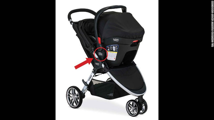 Britax Child Safety Inc. has recalled more than 700,000 strollers with Click and Go receiver mounts due to a fall hazard