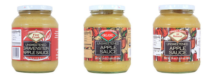 Trader Joe's apple sauce recalled over possible glass in containers