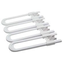 Load image into Gallery viewer, Unbreakable Sliding Locks for Cabinets – 4 Pack, White