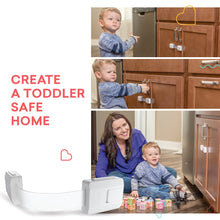 Load image into Gallery viewer, Child Safety Cabinet Locks for Baby Proofing Drawers, Fridge, Refrigerators & More, White, 6 Pack