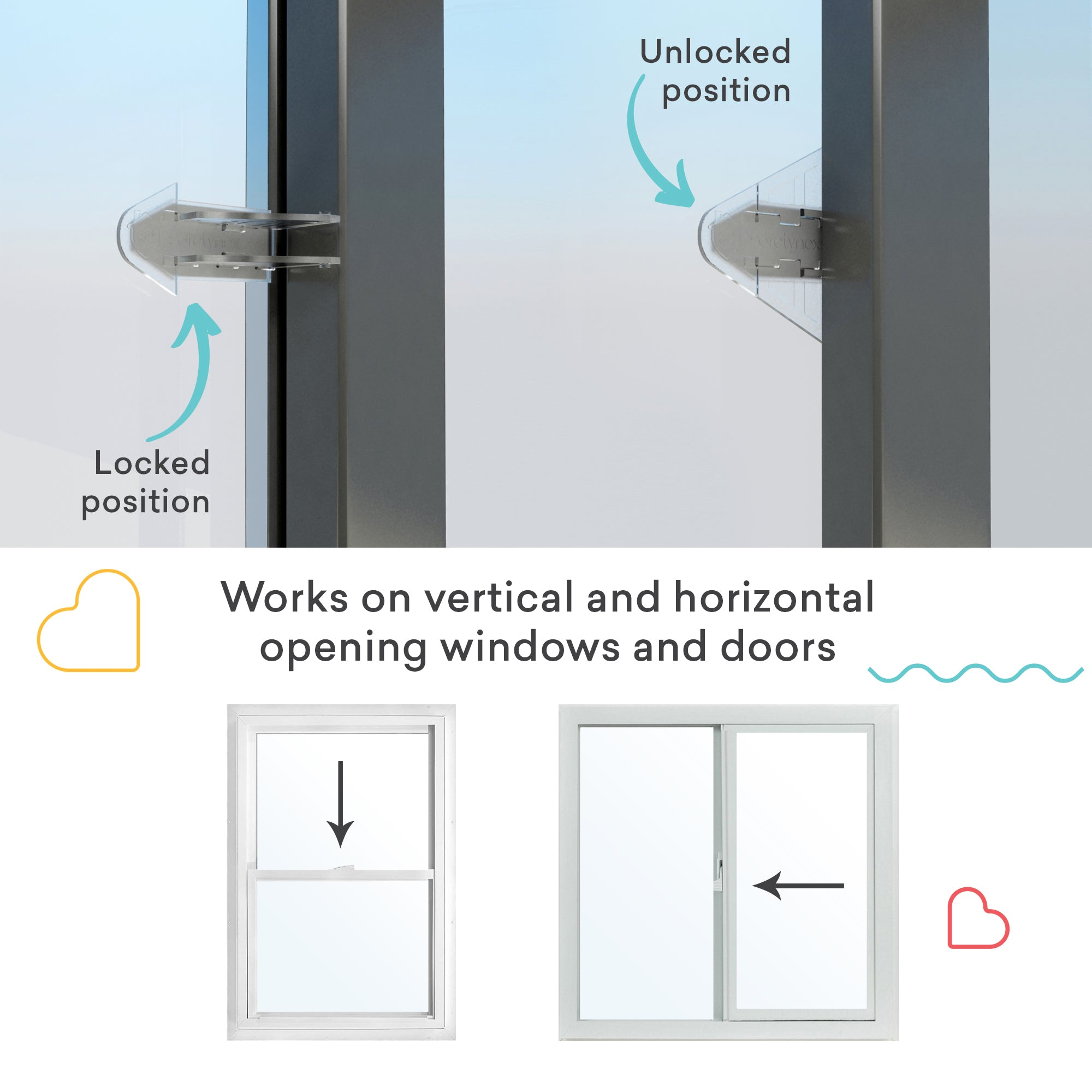 Sliding Door Safety Lock For Closets Windows Patio 4 Pack Sure