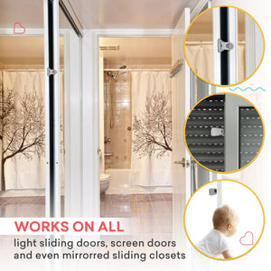Sliding Door Lock for Closets, Windows, Patios – 4 Pack, Clear