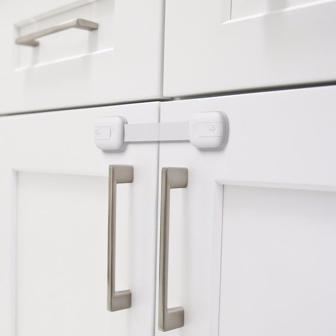 Child Safety Locks to Baby Proof Cabinets, Drawers, Fridge, Toilet, 2 Pack, White