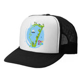 Cancun Boat TRUCKER HAT