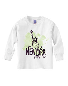 Paint your NYC TODDLERS' LONG-SLEEVED