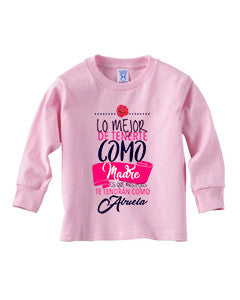 Love Mom TODDLERS' LONG-SLEEVED