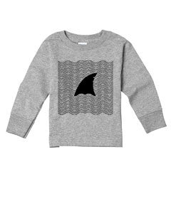 New S. Beach shark TODDLERS' LONG-SLEEVED