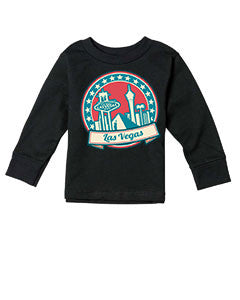 60's Las Vegas TODDLERS' LONG-SLEEVED