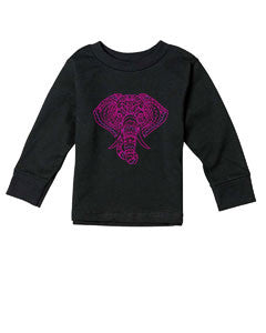 Colorful Elephant TODDLERS' LONG-SLEEVED